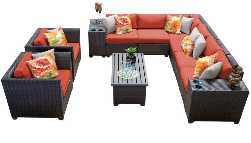 Barbados 11 Piece Outdoor Wicker Patio Furniture Set 11d