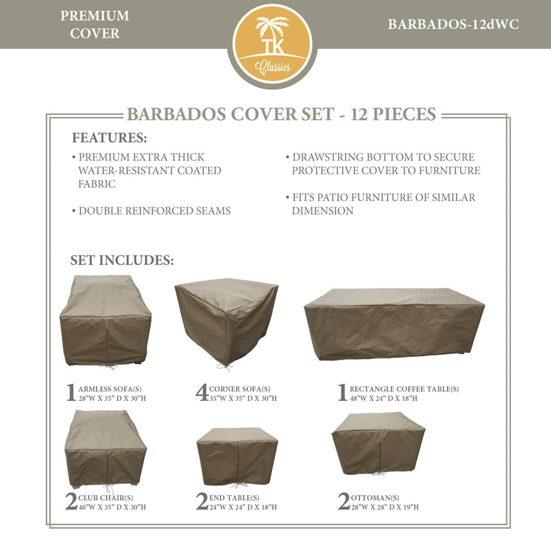 BARBADOS-12d Protective Cover Set, in Beige