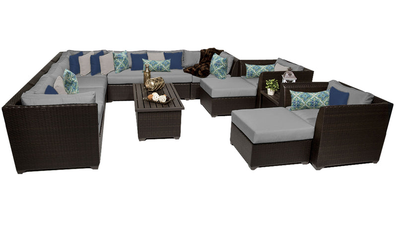 Barbados 13 Piece Outdoor Wicker Patio Furniture Set 13a