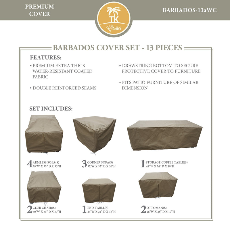 BARBADOS-13a Protective Cover Set, in Beige