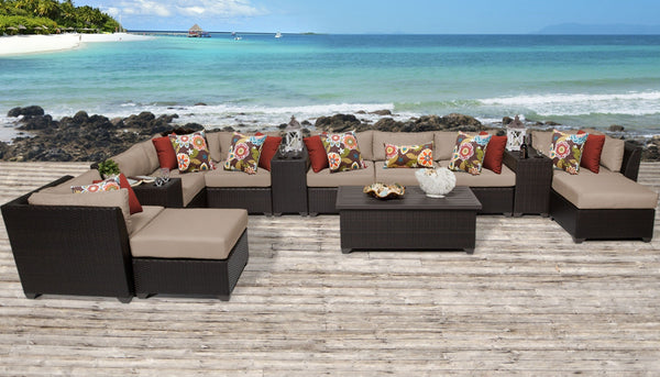 Barbados 14 Piece Outdoor Wicker Patio Furniture Set 14a