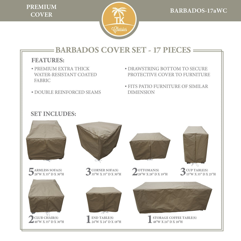BARBADOS-17a Protective Cover Set, in Beige