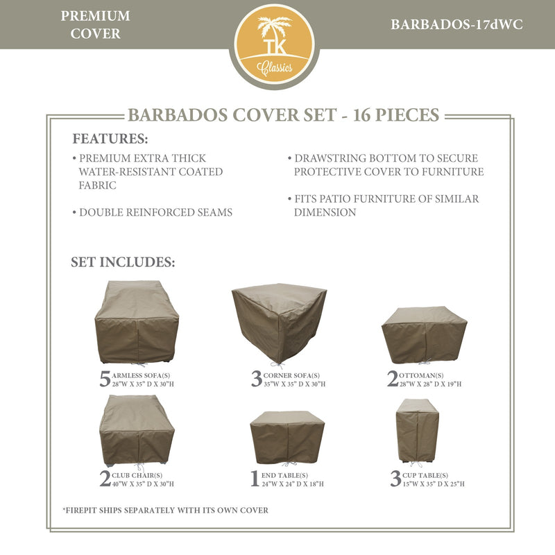 BARBADOS-17d Protective Cover Set, in Beige