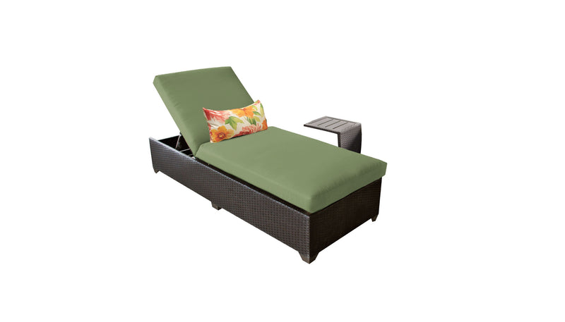 Barbados Chaise Outdoor Wicker Patio Furniture With Side Table