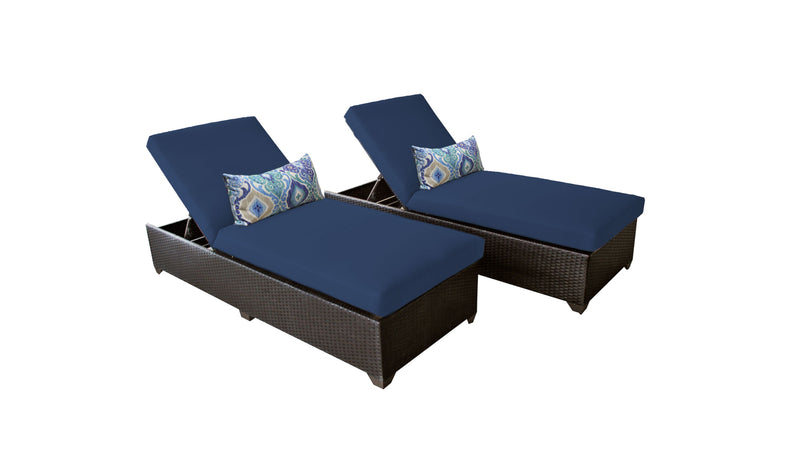 Barbados Chaise Set of 2 Outdoor Wicker Patio Furniture