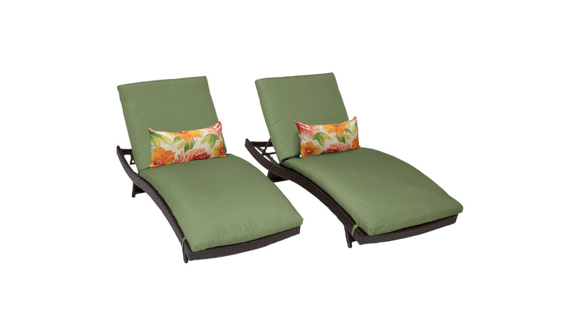Barbados Curved Chaise Set of 2 Outdoor Wicker Patio Furniture