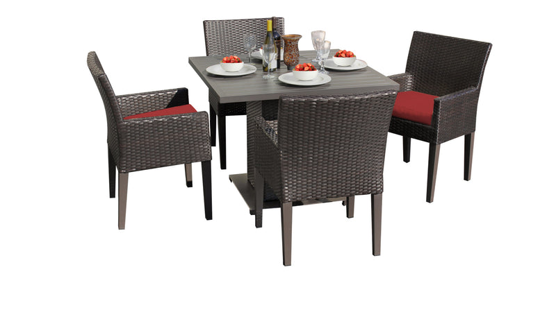 Barbados Square Dining Table with 4 Chairs