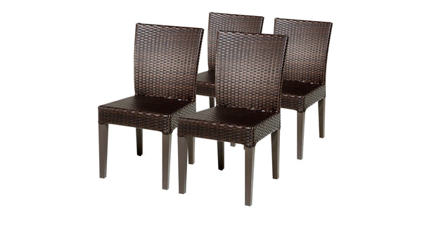 4 Barbados Armless Dining Chairs Without Cushions