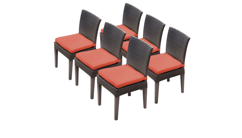 6 Barbados Armless Dining Chairs