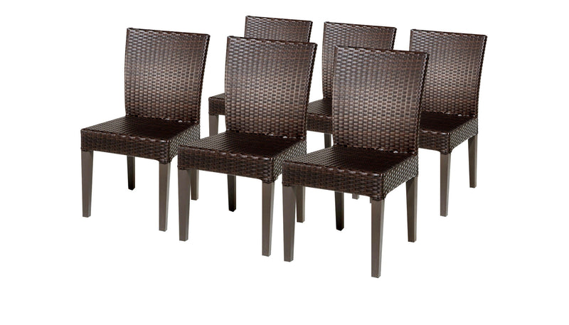6 Barbados Armless Dining Chairs Without Cushions