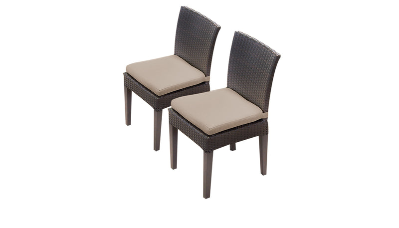Barbados Rectangular Outdoor Patio Dining Table With 6 Armless Chairs And 2 Chairs W- Arms
