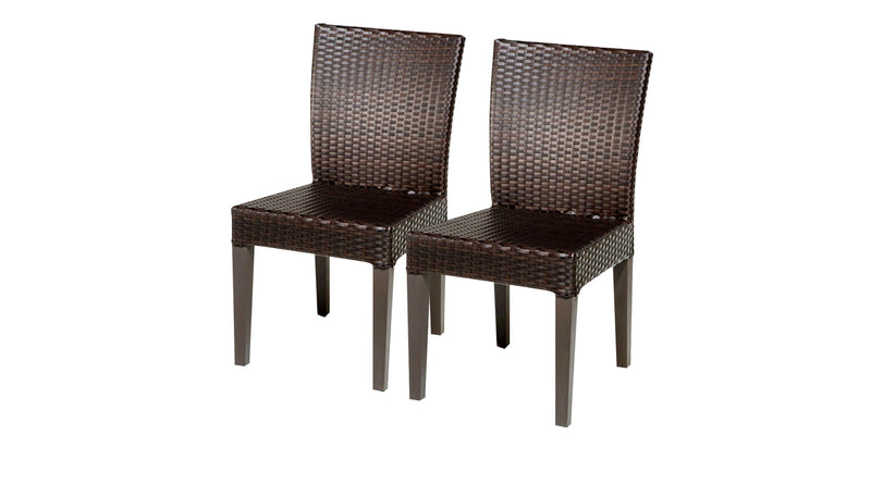 2 Barbados Armless Dining Chairs Without Cushions