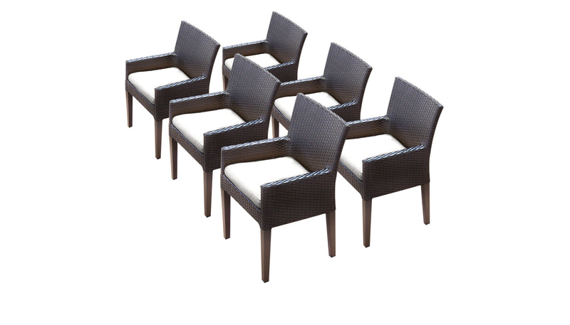 6 Barbados Dining Chairs With Arms