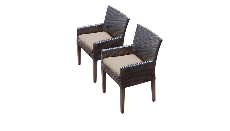 2 Barbados Dining Chairs With Arms
