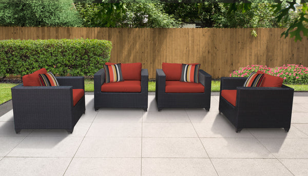 Belle 4 Piece Outdoor Wicker Patio Furniture Set 04a