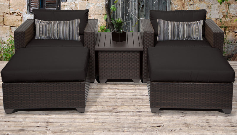 Belle 5 Piece Outdoor Wicker Patio Furniture Set 05a