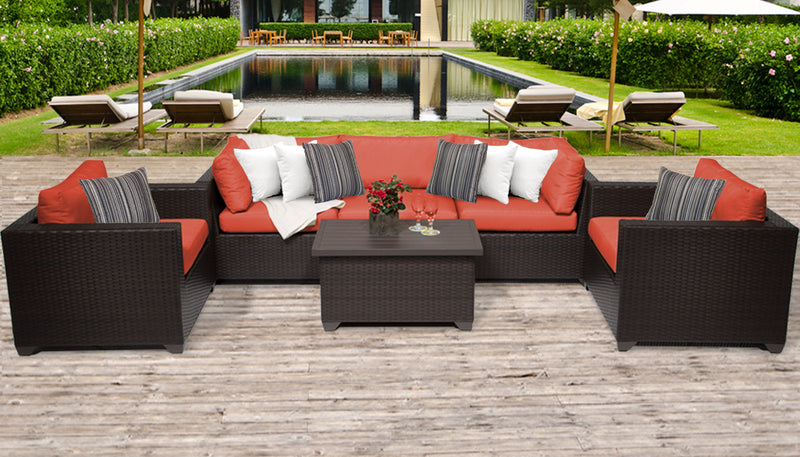 Belle 6 Piece Outdoor Wicker Patio Furniture Set 06b