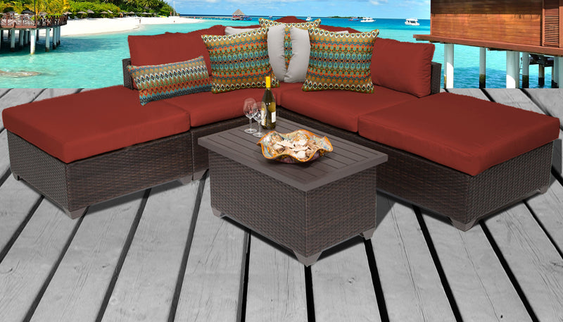 Belle 6 Piece Outdoor Wicker Patio Furniture Set 06c