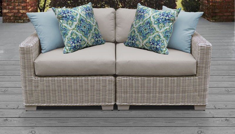 Coast 2 Piece Outdoor Wicker Patio Furniture Set 02a
