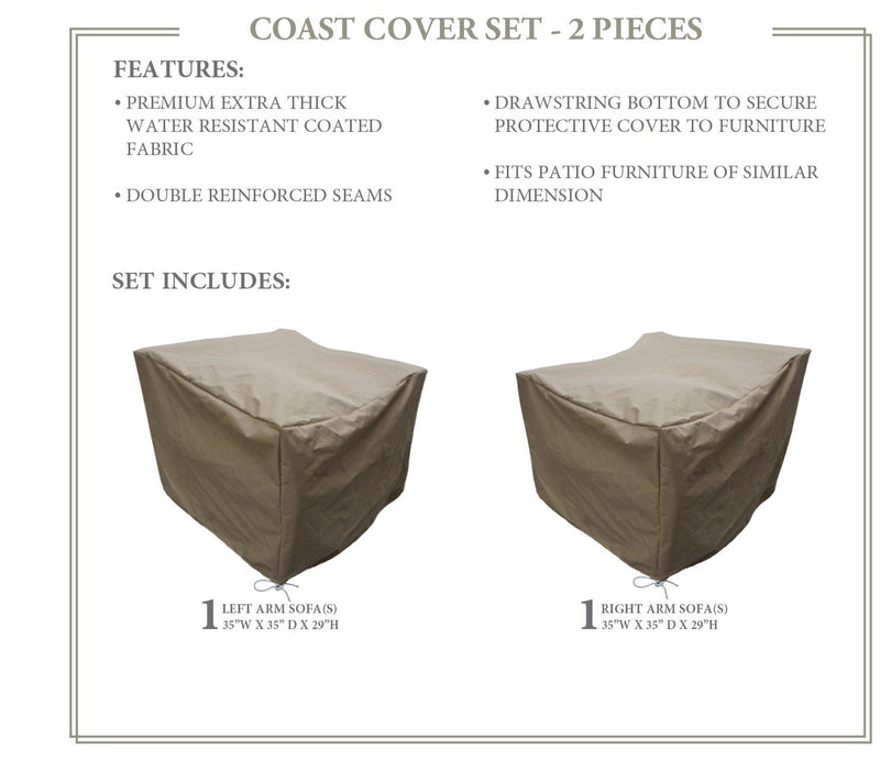 COAST-02a Protective Cover Set, in Beige