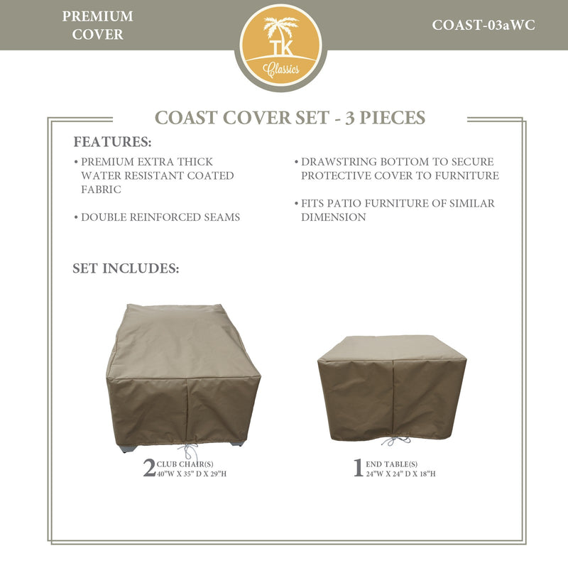 COAST-03a Protective Cover Set, in Beige
