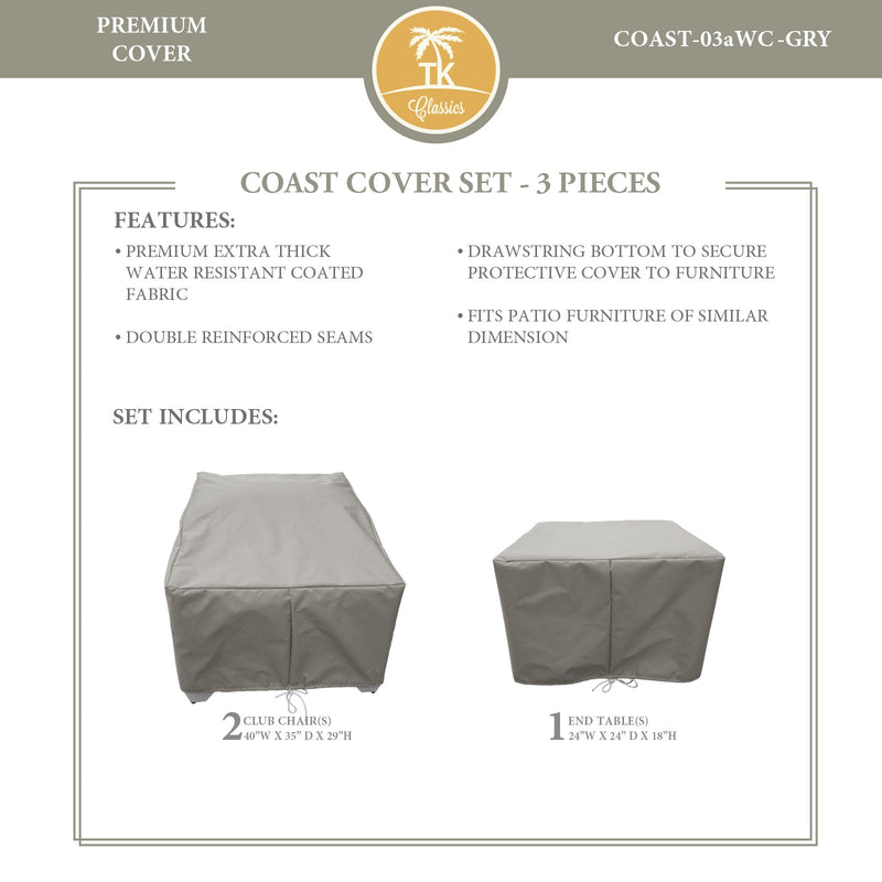 COAST-03a Protective Cover Set, in Grey