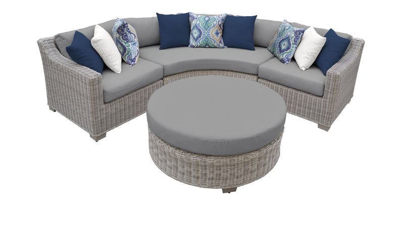 Coast 4 Piece Outdoor Wicker Patio Furniture Set 04a
