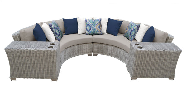 Coast 4 Piece Outdoor Wicker Patio Furniture Set 04c