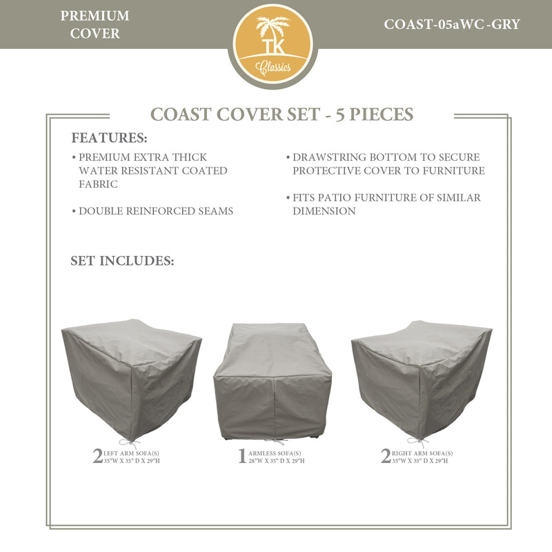 COAST-05a Protective Cover Set, in Grey