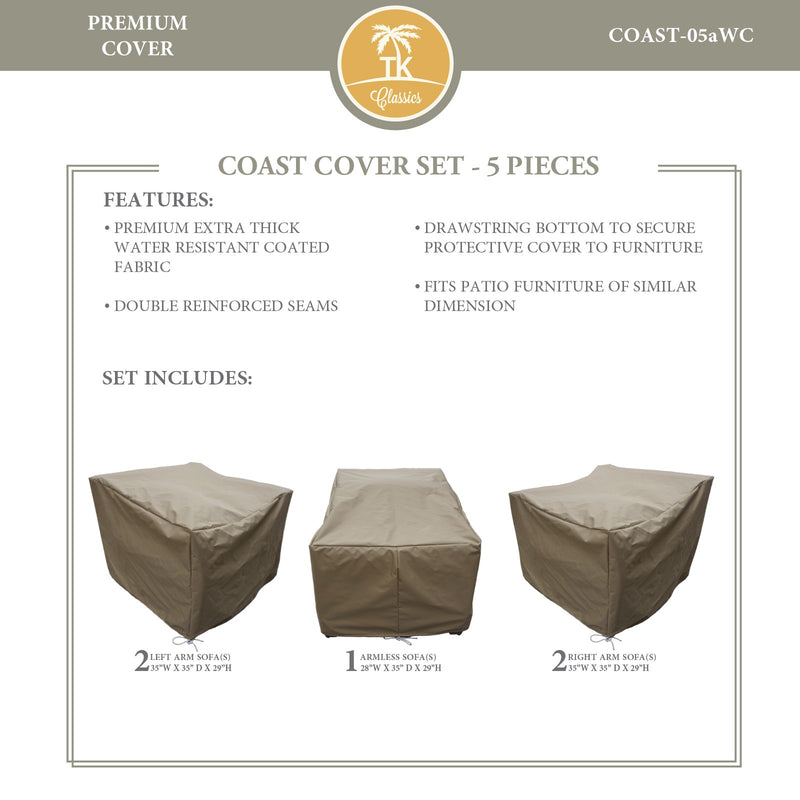 COAST-05a Protective Cover Set, in Beige