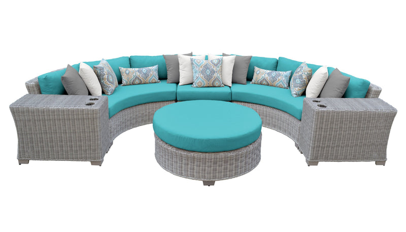 Coast 6 Piece Outdoor Wicker Patio Furniture Set 06c