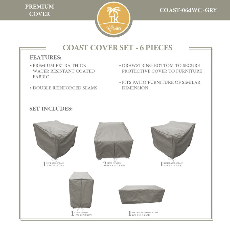 COAST-06d Protective Cover Set, in Grey