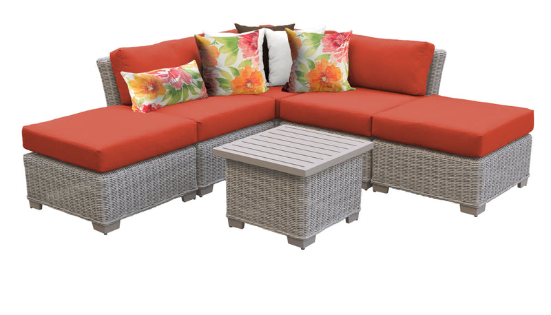 Coast 6 Piece Outdoor Wicker Patio Furniture Set 06f