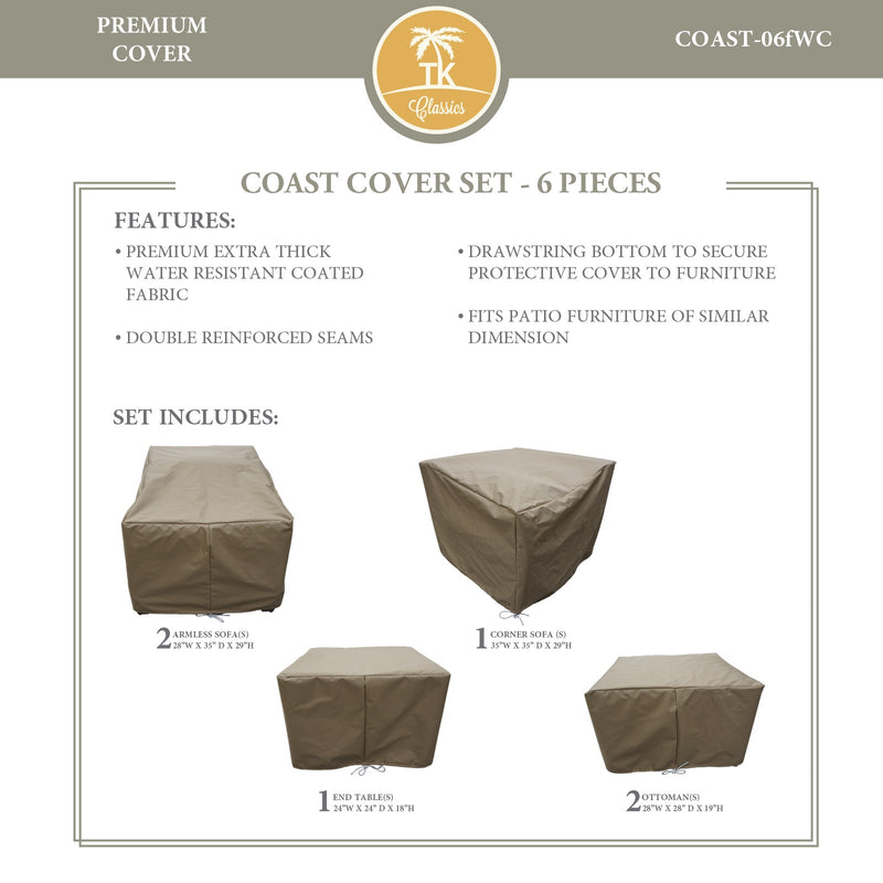 COAST-06f Protective Cover Set, in Beige