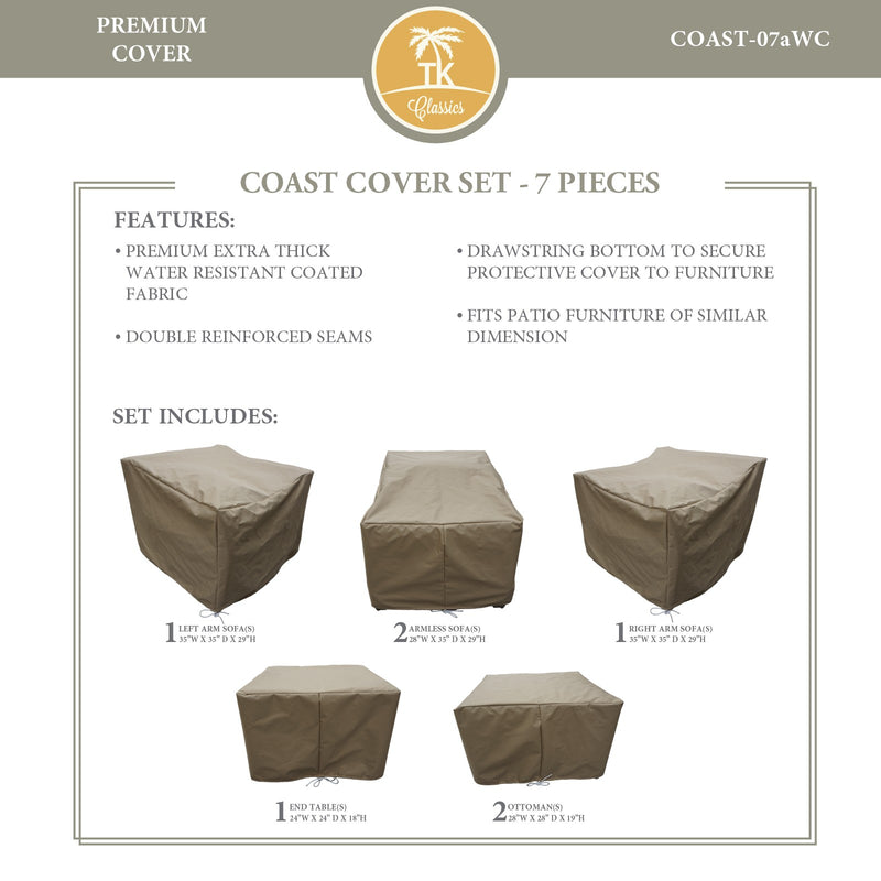COAST-07a Protective Cover Set, in Beige