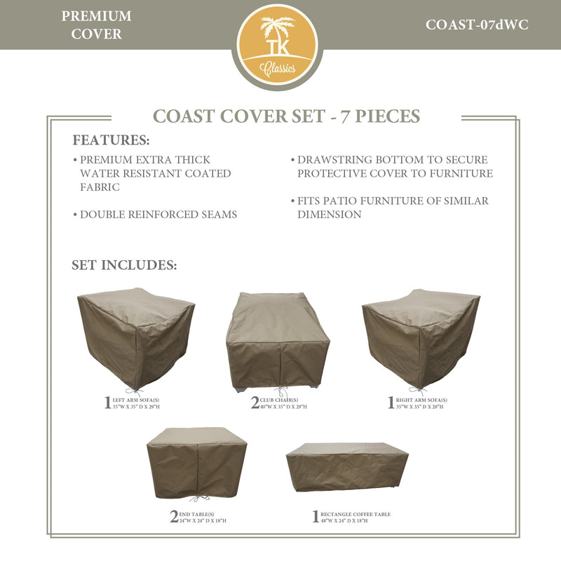 COAST-07d Protective Cover Set, in Beige