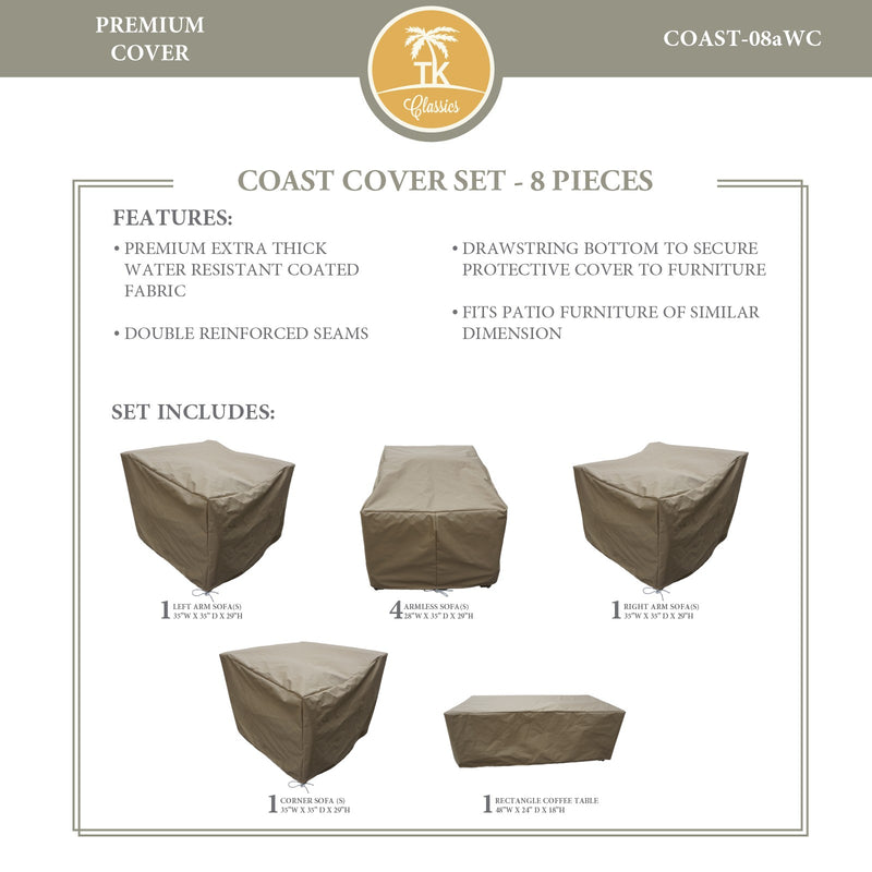 COAST-08a Protective Cover Set, in Beige
