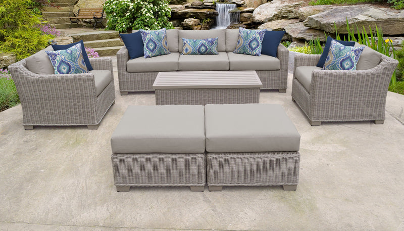 Coast 8 Piece Outdoor Wicker Patio Furniture Set 08c