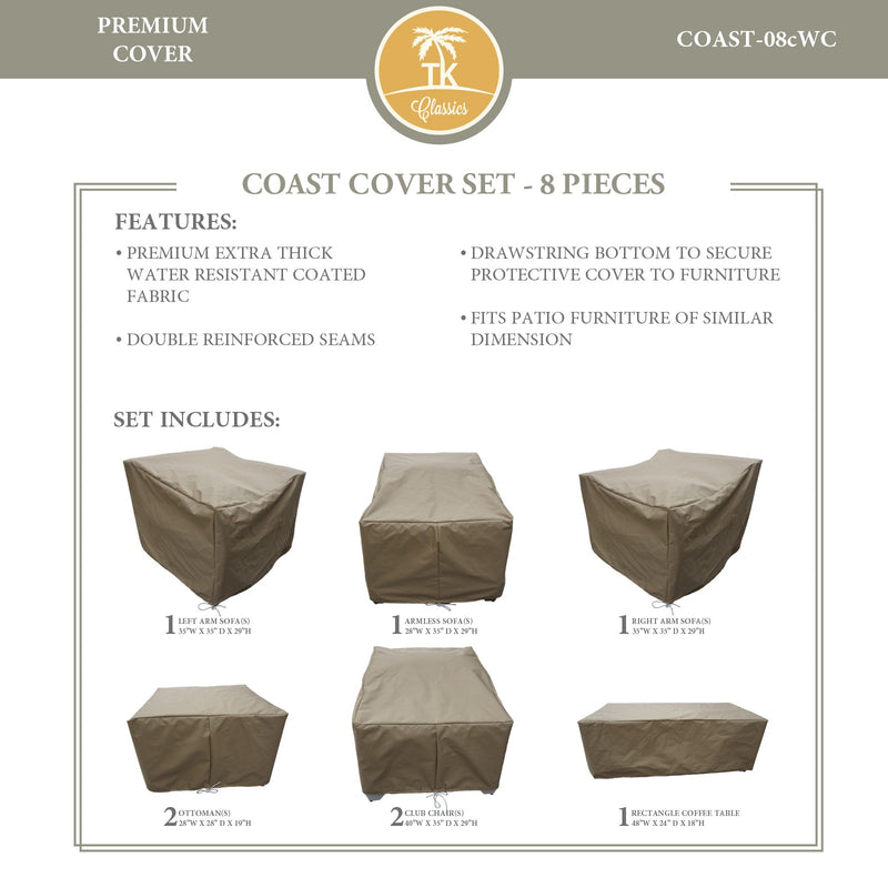 COAST-08c Protective Cover Set, in Beige