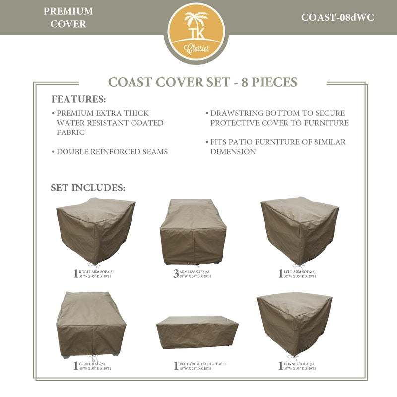 COAST-08d Protective Cover Set, in Beige