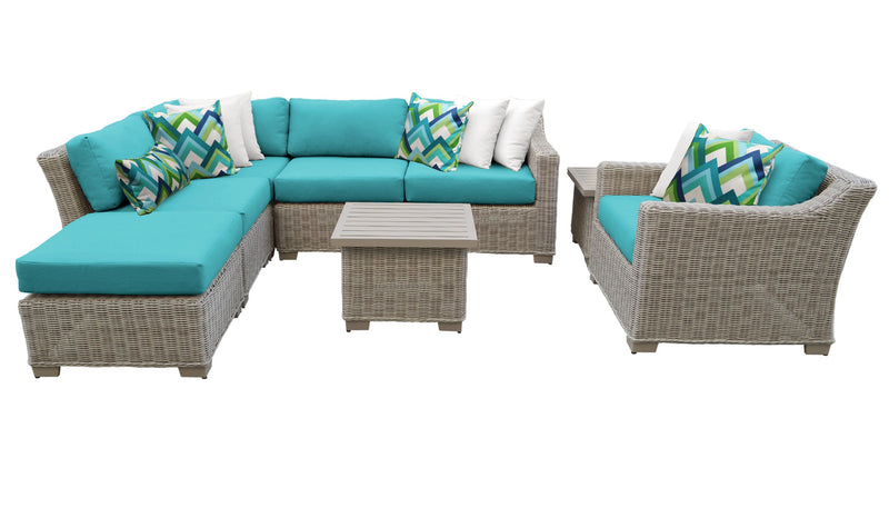 Coast 8 Piece Outdoor Wicker Patio Furniture Set 08g