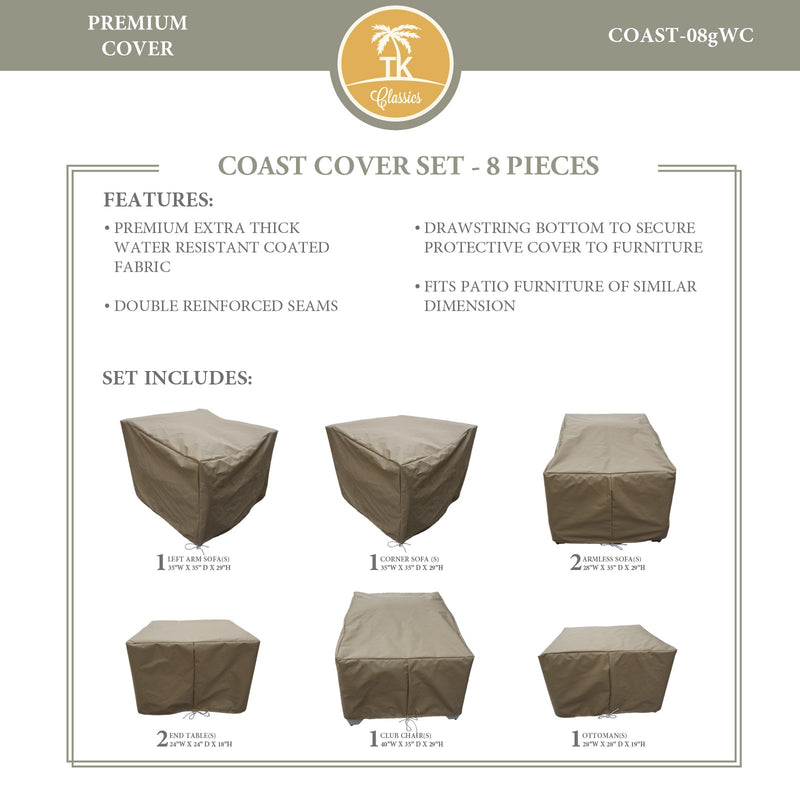 COAST-08g Protective Cover Set, in Beige