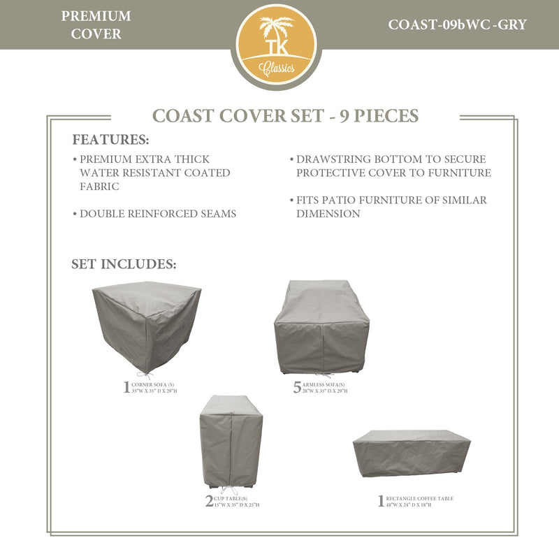 COAST-09b Protective Cover Set, in Grey