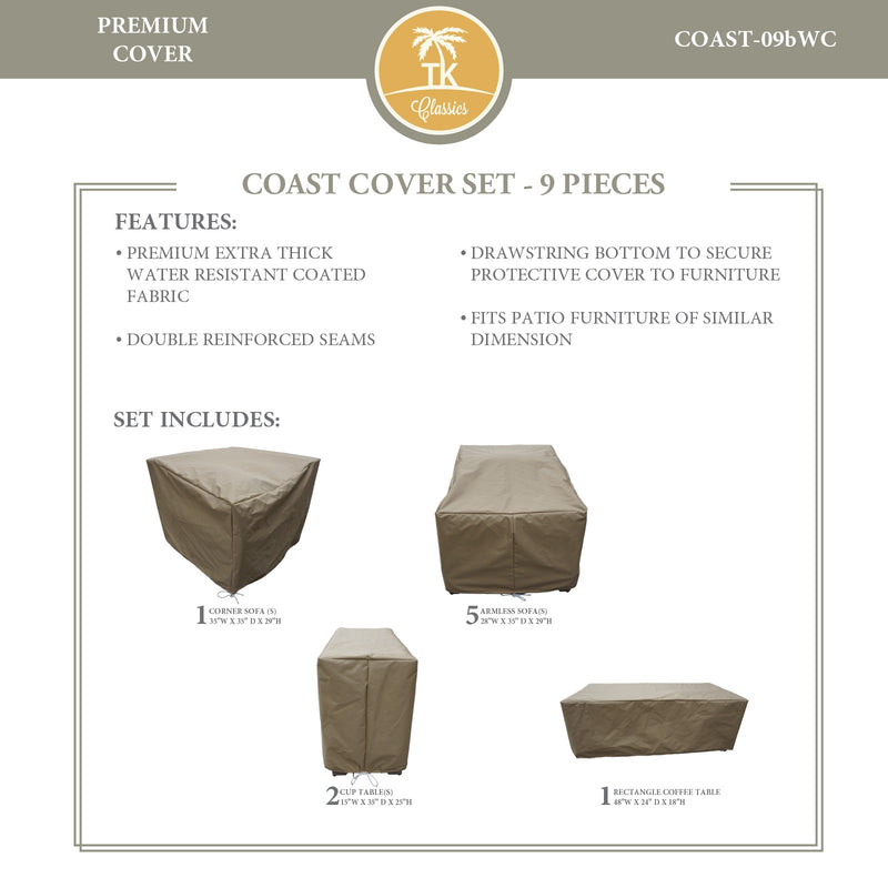 COAST-09b Protective Cover Set, in Beige