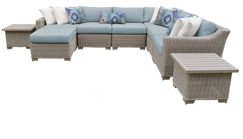 Coast 9 Piece Outdoor Wicker Patio Furniture Set 09c
