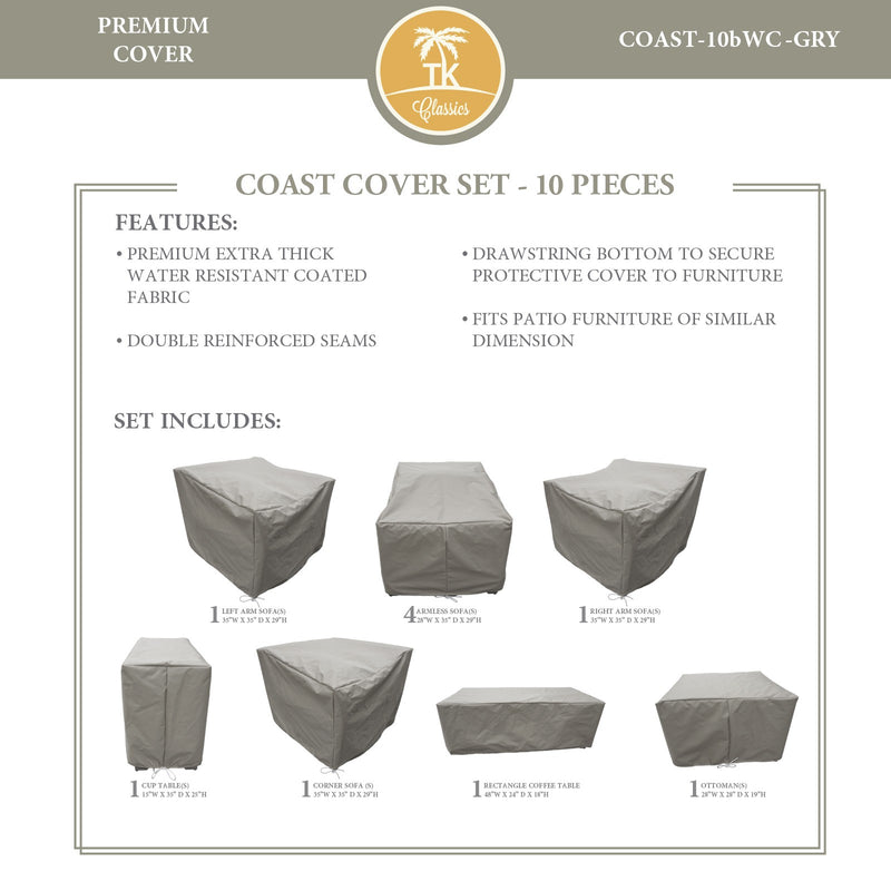 COAST-10b Protective Cover Set, in Grey