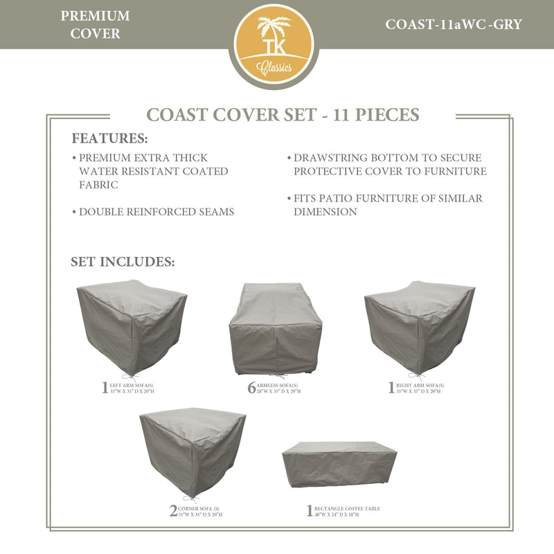 COAST-11a Protective Cover Set, in Grey