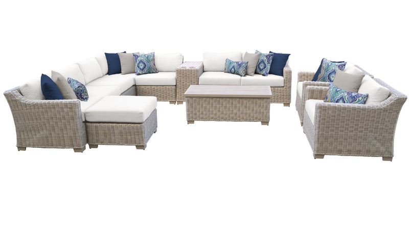 Coast 12 Piece Outdoor Wicker Patio Furniture Set 12b