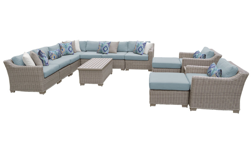Coast 13 Piece Outdoor Wicker Patio Furniture Set 13a