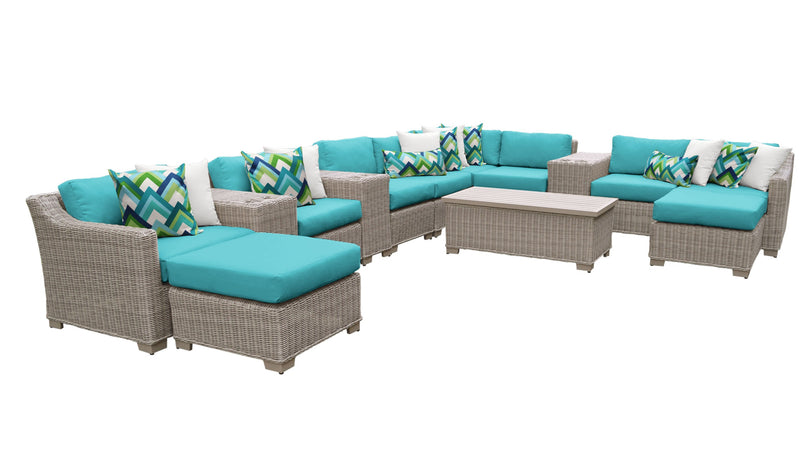 Coast 14 Piece Outdoor Wicker Patio Furniture Set 14a